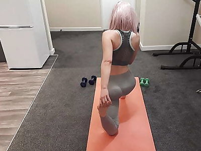 My Fit Teen Roommate let me Turtle-dove her after her Yoga Session and she made me Cum inside Her.