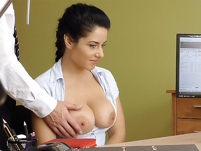 Humungous naturals dark-haired poke anal invasion be beneficial to loan approval