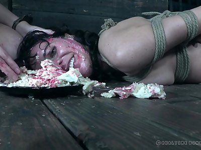 Food fetish torture and humiliation for nerdy teen Vera King
