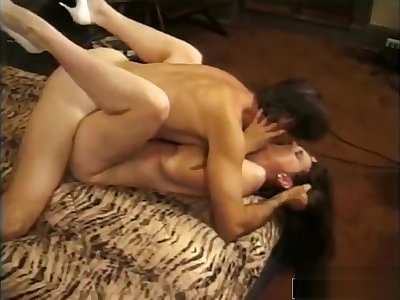 Hung Stud Drills Brunettes Tight Asshole