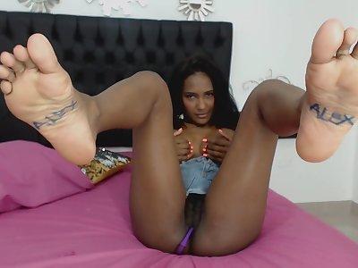 ebony vixen Abby Ross - bush-leaguer webcam