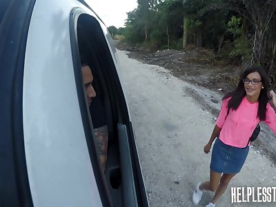 Pretty catch on to hiker Eden Sin is face fucked relating to the car and fucked relating to the basement