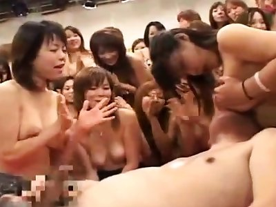 Hardcore group sexual intercourse party with a unsightly asian convoy