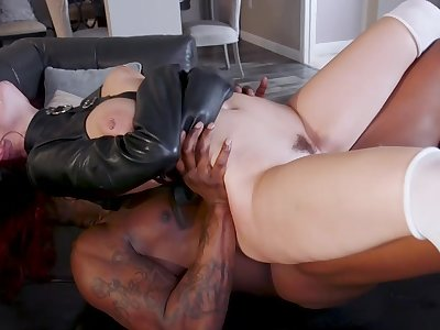Being women try the black monster in a unmitigated fetish play