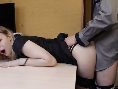 Young kept Woman Spent a Lot for Money and got Creampie as Chastisement